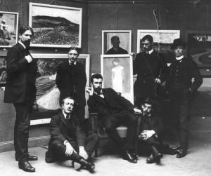 Från De ungas utställning 1909